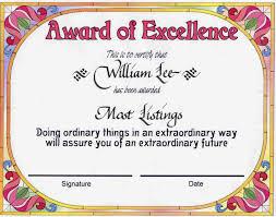 Samples Of Awards Certificates Award Certificates Certificate Templates