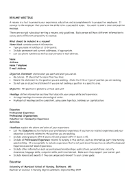 Examples Of Objective Statements On Resumes Nursing Resume Objectives Resume Examples Objective Statement