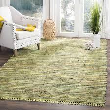 safavieh rag rug light green multi rar127d
