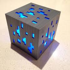 Diamond Ore Light Minecraft Diamond Ore Lamp 3d Print 4 Steps Instructables