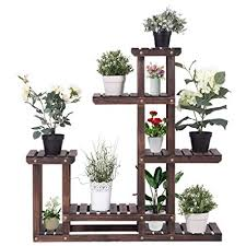 multi shelf plant stand. Giantex Flower Rack Plant Stand Multi Wood Shelves Bonsai Display Shelf Indoor Outdoor Yard Garden Patio To