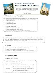 Examples Of Descriptive Essay About A Place How To Write The Description Of A Place Descriptive Writing I