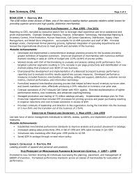 Executive Cfo Resume