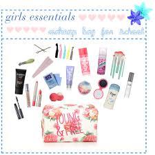 girls makeup bag. girls essentials makeup bag for school // ellen e