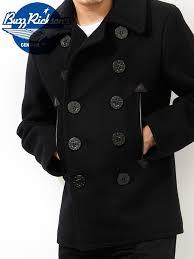 rickson peacoat outerwear p coat black william gibson buzz rickson s br12394