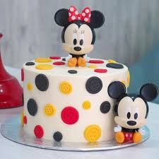 designer mickey and minnie mouse cake