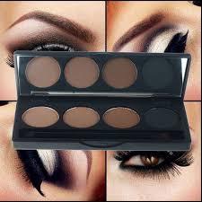 eyebrow powder. professional 4 color eyebrow makeup powder eyeshadow palette double end brush s