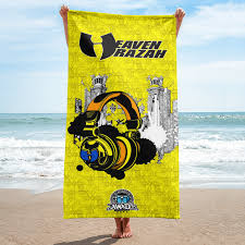 Designer Beach Towels Official Hellrazah Music Inc Limited Edition Headphones Designer Beach Towel Heavenrazah Merchandise Graphics By Ihustle365