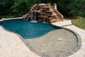 Exellent Pool Designs With Slides Swimming Pools And Waterfalls Houston Innovation Ideas