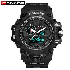PANARS Analog Digital Watch <b>Men Dual Display</b> Quartz Sports ...