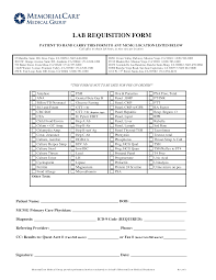 Lab Requisition Form Templates At Allbusinesstemplates Com