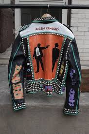 Studded Punk <b>Jacket</b>, Studded Punk leather <b>jacket</b> -Hand painted ...