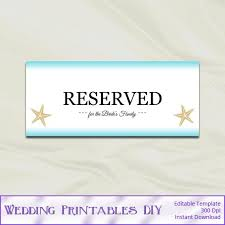 Reserved Signs Templates Diy Wedding Reserved Signs Templates By Weddingprintablesdiy 8 00