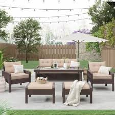 The unit is on casters for mobile transfer to. Outdoor Couches Outdoor Lounge Furniture The Home Depot