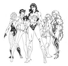 Small Picture Coloring Book for Women Women of DC Comics by SpiderGuile on