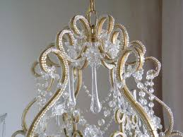 crystal birdcage chandelier goldeaforella dia modern cascadingeaves sixight champagne parts uk pink table