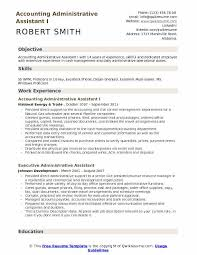 Resume Template Executive Assistant Accounting Administrative Assistant Resume Samples Qwikresume