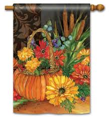 garden house flags. Magnet Works House Flag - Autumn Tapestry Decorative At Garden GardenHouseFlags Flags