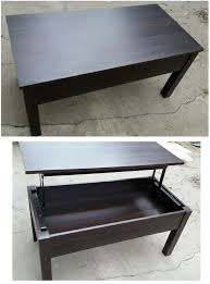 simple black coffee table with storage