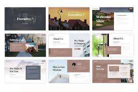 Powerpoint Real Estate Templates Executive Real Estate Powerpoint Template Design Ideas