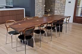 maple wood dining room table. black walnut | steel panel legs maple wood dining room table e