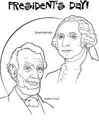 Small Picture George Washington and Abraham Lincoln for Presidents Day Coloring