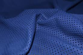 royal blue perforated leather skin 55mm