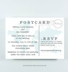 Tiffany Wedding Map Postcard Invitation With Quote By Paper And Inc