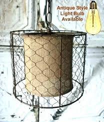 en wire lampshade lamp shade wires primitive en wire burlap drum swag pro throughout proportions lampshade en wire lampshade