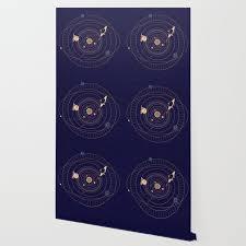 Star Chart Wallpaper Art Deco Star Chart Wallpaper
