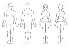 Body Chart Male And Female Body Chart Front And Back View Blank Human