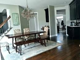 should you put a rug under dining room table area for size image