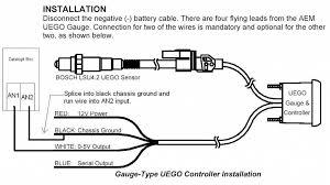 wiring diagram aem wideband o2 sensor wiring diagram help in bosch 4 wire universal o2 sensor instructions at O2 Sensor Wiring