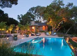pool landscape lighting ideas. Perfect Pool/spa Combo With The Spa Being Inset Of Pool Allowing For A Landscape Lighting Ideas