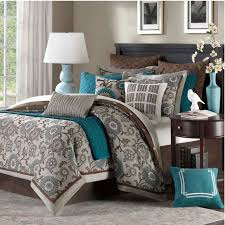 blue and brown king size comforter set