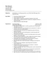 Hotel Sales Manager Resume Assistant Hospitality Sample And