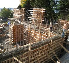 wall formwork construction of house