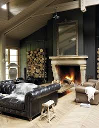 eclectic living room with wall sconce stone fireplace high ceiling restoration hardware kensington