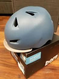 Details About Bern Unlimited Brentwood Helmet W Flip Visor Matte Steel Blue Large