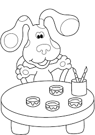 Small Picture Blues Clues Coloring Pages