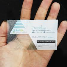 Translucent Plastic Business Cards Transparent Name Card Printing 400gsm Translucent Business