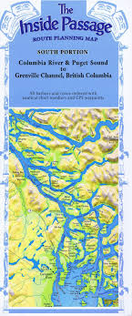 Inside Passage Map South Map Folded