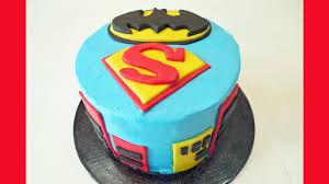 Superman Fondant Cake Design How To Make A Batman Superman Birthday Cake With Jill