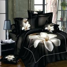 roxy bedding sets queen white orchid black bedding sets queen king size flowers printing duvet cover roxy bedding