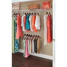 double hang closet rod in nickel