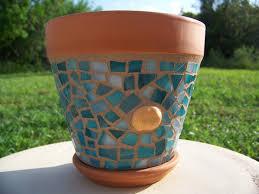 mosaic plant pots flower pot planter outdoor