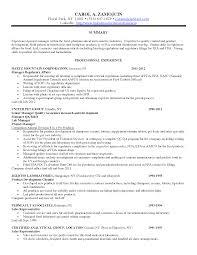 Regulatory Affairs Resume Sample Nardellidesign Com Analytical
