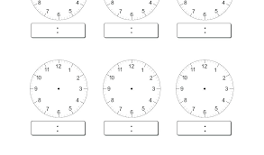 Printable Clock Face Template Free Blank Faces Worksheets More