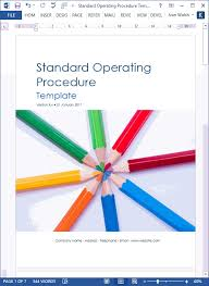 standard operating procedures template word how to write standard operating procedures examples
