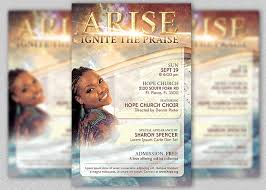 church invitation flyers arise church concert flyer template godserv market